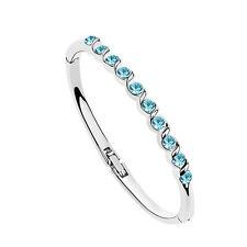Fashion Jewelry Children Bangle Silver Bracelet Round Crystal Birthday Gift