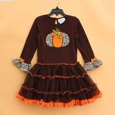 Emily rose Girls Holloween Holiday pumpkin Dress girl dress 2 3 4 5 6