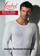 T-Shirt uomo Liabel rasata a manica lunga in misto lana pesante art 5175-333ML