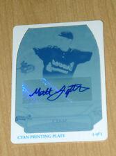 Bowman Sterling print plate autograph Matt Lipka 1/1