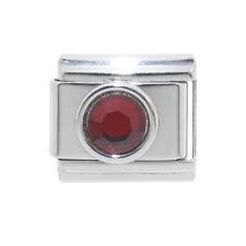 Circle birthstone 9mm Italian Charm - Fits 9mm classic Italian charm bracelets