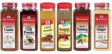 NEW-McCormick Seasoning: Chili Powder,Ground Nutmeg,Ginger,Cumin Curry,Italian