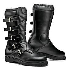 Sidi Scramble Rain Black Motorcycle Motorbike Vintage Touring Boots | All Sizes