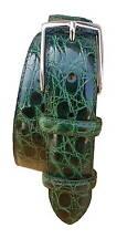 Cintura in Fianco di Coccodrillo 35 mm - Smeraldo