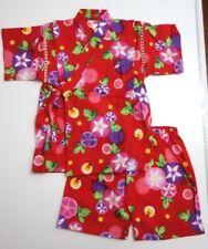 Traditional Japanese Baby boy girl Toddler Kimono Yukata top + shorts 2pc