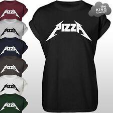 PIZZA Rock T-SHIRT GIROCOLLO GRUNGE MODA PUNK DEATH HEAVY METAL BAND Love SHIRT TEE