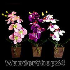 Orchidee Kunstblumen Seidenblumen 40cm Kunstpflanzen künstliche Deko Blumen NEU