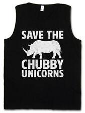 Save the Chubby unicornios Tank Top Rhino the last Cartoon rinoceronte unicornio Fun