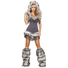 Eskimo Costume for Women Adult Sexy American Indian Girl Halloween Fancy Dress