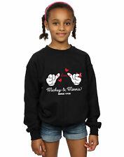 Disney Niñas Mickey Mouse Love Hands Camisa De Entrenamiento