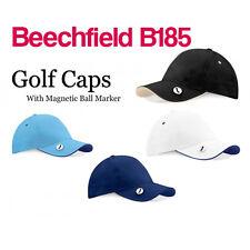 Beechfield Pro Style Ball MARK GOLF CAP-Cappello da Baseball-B185 Palla Marcatore