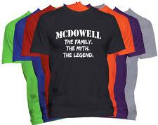 MCDOWELL Last Name Shirt Custom Name Shirt Family Reunion Family Name T Shirt