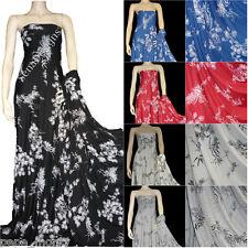 Viscose Cotton Stretch Lycra Fabric Japanese Garden RM1153 Free P&P