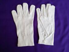 White100% Cotton Formal Tuxedo Band GuardOf Honor Parade Santa Inspection Gloves