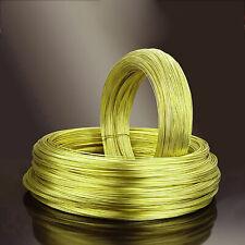 Brushed H62 Brass Round Wire Conductive Brass Wire Unplated Φ0.3/0.5/0.8/1~Φ3mm