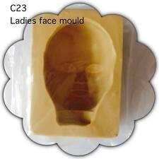 SUGARCRAFT/COLD PORCELAIN RESIN WOMENS FACE MOULD (C23) & (C30)