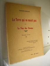 DUPOIZAT-MAINJON / La terre qui ne meurt pas ou la voix des champs 1936
