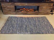 DENIM BLUE Handmade ECO Friendly Soft Cotton Reversibl Rag Rug 90x150cm -40%OFF