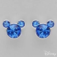 DISNEY Irresistible Brand New Earrings W/Genuine Crystal in 925 Sterling silver