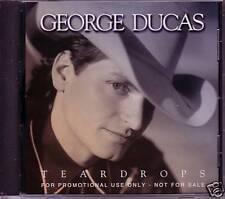GEORGE DUCAS Teardrops PROMO CD Single w/ PRINTED LYRICS 1994 USA MINT
