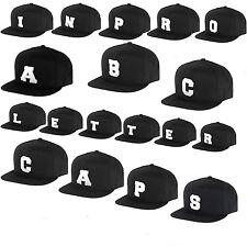 ABC LETTER SNAPBACK CAPS Baseball Cap ALPHABET