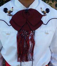 Mexican Charro/ Mariachi Red/Black Bow Tie For Kids.Moño Charro/Mariachi De Niño