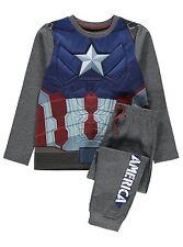 Jungen Marvel Captain America Schlafanzüge Alter 5-12 Jahre