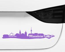 Aufkleber Mannheim Skyline mehrere Größen  11 Farben 2 Größen