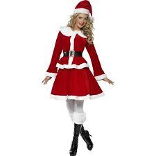 Festive Miss Santa Claus Christmas Season Womens Ladies Fancy Dress Costume