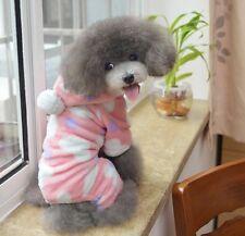 Carino IN PILE DOG PUPPY Rosa Pigiama Salopette Con Cuore Felpa Con Cappuccio-GRATIS P&P, a basso prezzo!