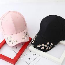 Gorra de béisbol señoras snapback mujeres bordados cerezo flores sombrero