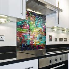 Splashback Paraschizzi Paraspruzzi Rivestimento Cucina mattone pattern colorato