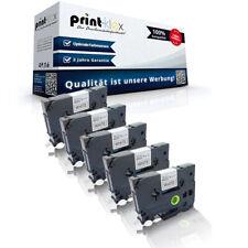5x compatible Cintas para Brother TZE211 Nylon TTR - Impresora Serie Pro