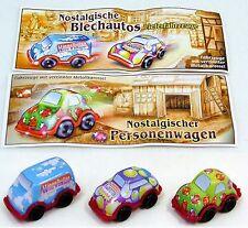 Überraschungsei Figuren Blech Auto + BPZ Auswahl nostalgische Pkw Lkw UeEi