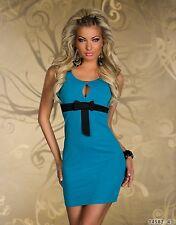 Desgaste del club fiesta vestido mini elegante moderno tamaño de Reino Unido 12-14 Azul