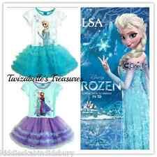 NEW Girls Frozen Queen Elsa & Princess Anna Tutu Style Dress, Sizes 2 - 7 Years