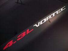 4.3L VORTEC (2) Hood sticker decals emblem Chevy Silverado GMC Sierra S10 S15