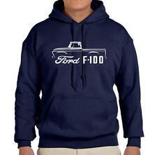 1957-60 Ford F100 Pickup Truck Outline Design Hoodie Sweatshirt FREE SHIP