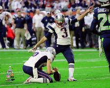 Stephen Gostkowski New England Patriots Super Bowl Photo RS245 (Select Size)
