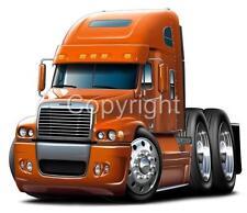Freightliner Century Semi Big Rig Truck Cartoon T-Shirt #9542 cartoontees art