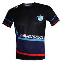 BMW Performance M Power Motorsport unique handmade sublimation graphic t-shirt