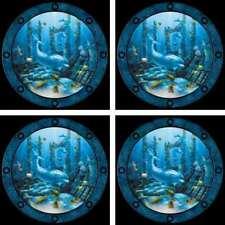 Dolphin Accent & Decor Tile Set Miller Ceramic Backsplash Undersea Art DMA2036