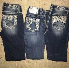 Girl's Miss Me Skinny Bootcut Jeans Sz 8 12 Dark wash denim City Limit
