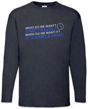 Time Travel! Long Sleeve T-Shirt Fun Geek Nerd Scientist Teacher Physics