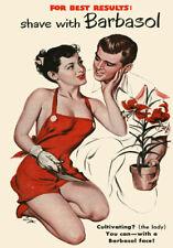 """AV13 Vintage 1950's Shaving Cream Advertisment Poster Print A3 17""""x12"""""""