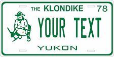 Yukon Canada 1978 License Plate Personalized Custom Car Bike Motorcycle Moped