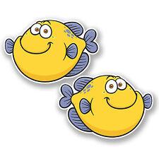 2 x 30cm Fish Vinyl Sticker iPad Laptop Car Scuba Diving Dive Fishing #4888