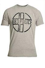 Mens T-Shirt 883 Police Miller T-Shirt Marl Grey