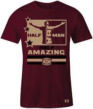 "HALF MAN HALF AMAZING- T-shirt to Match Foamposite One ""Night Maroon"" Gum Bottom"
