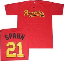 Atlanta Milwaukee Braves Warren Spahn Throwback Cooperstown T Shirt